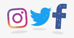 Social media Icons, Instagram, twitter, facebook
