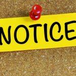 Notice of Board Meeting